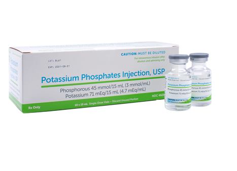 Illustration of Potassium Phosphates Injection, USP boxes and vials